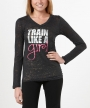 Train Like a Girl </br>  V-Neck Long Sleeve