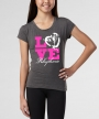 Love Heart </br> Charcoal Soft Tee