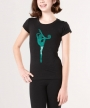 Rhythmic Word Teal Silhouette - Black