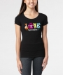 Gymnastics Love Splash </br> Black Soft Tee