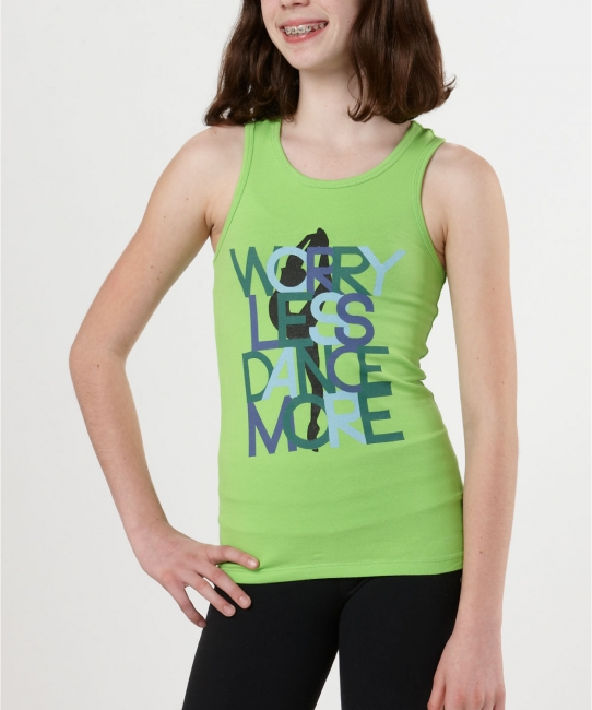 Worry Less Dance More Racerback