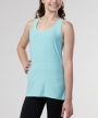 Jasmine Racerbank Tank </br>  Aqua Mint Heather