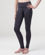 Katia Lined Legging </br>Navy & Coral Stripe