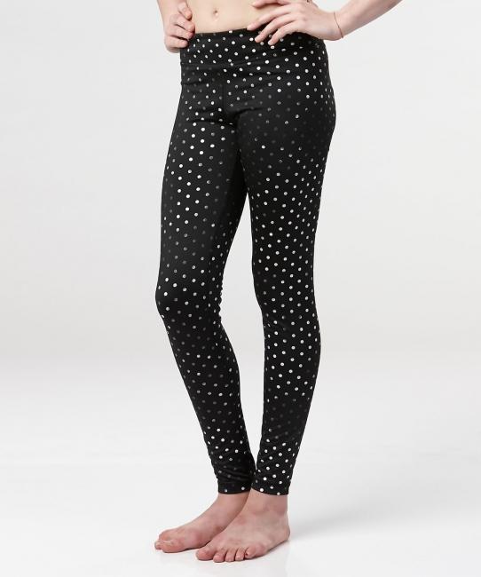 Ella Legging </br>Black & Silver Dot
