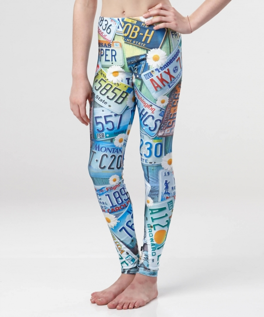 Road Trip Leggings All-over Color Print