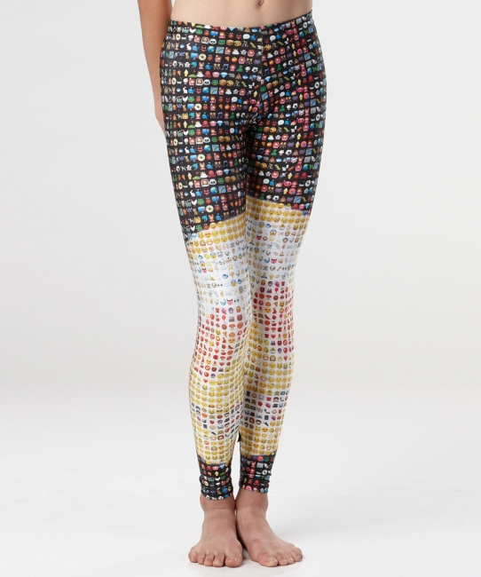 Emoji Leggings </br> All-over Color Print