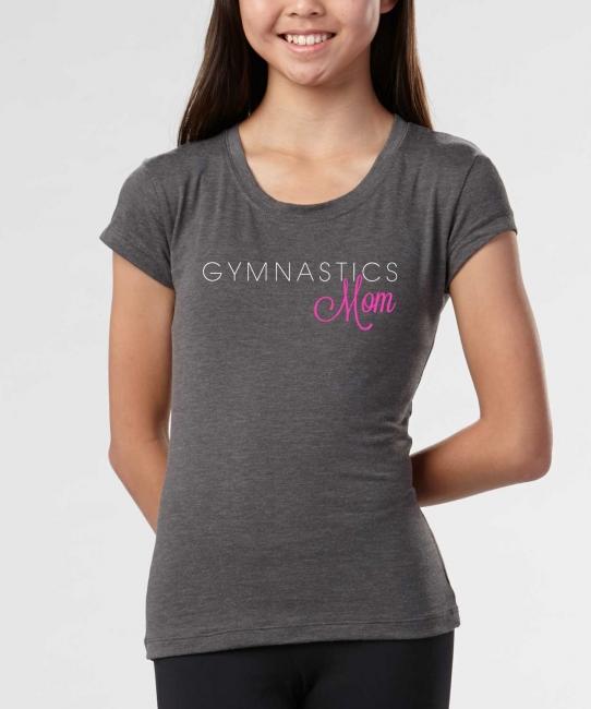 Gymnastics Mom </br> Charcoal Soft Tee