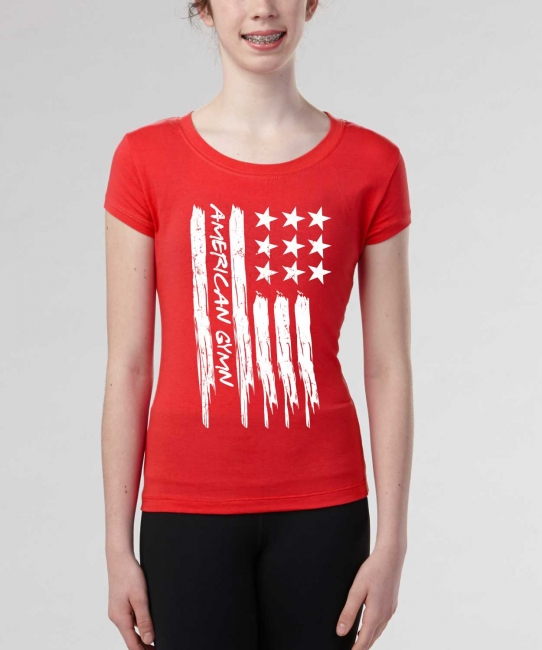 American Gymnast </br> Red Soft Tee